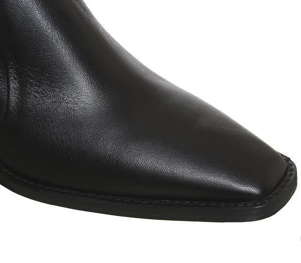 Office Arise Unlined Boots Black Leather - Ankle Boots 2zHGjTO