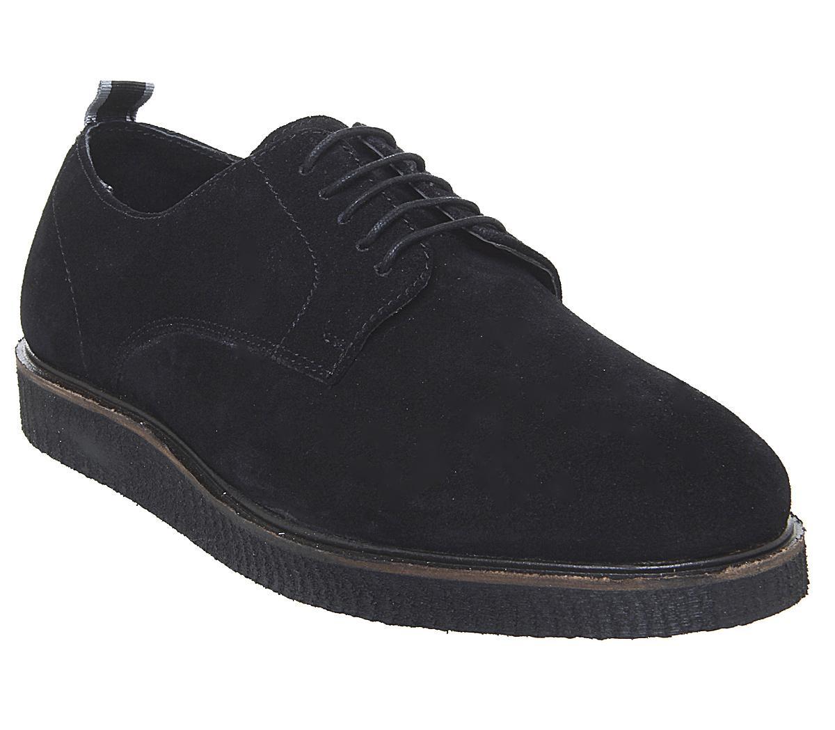 Office Cade Derby Shoes Black Suede