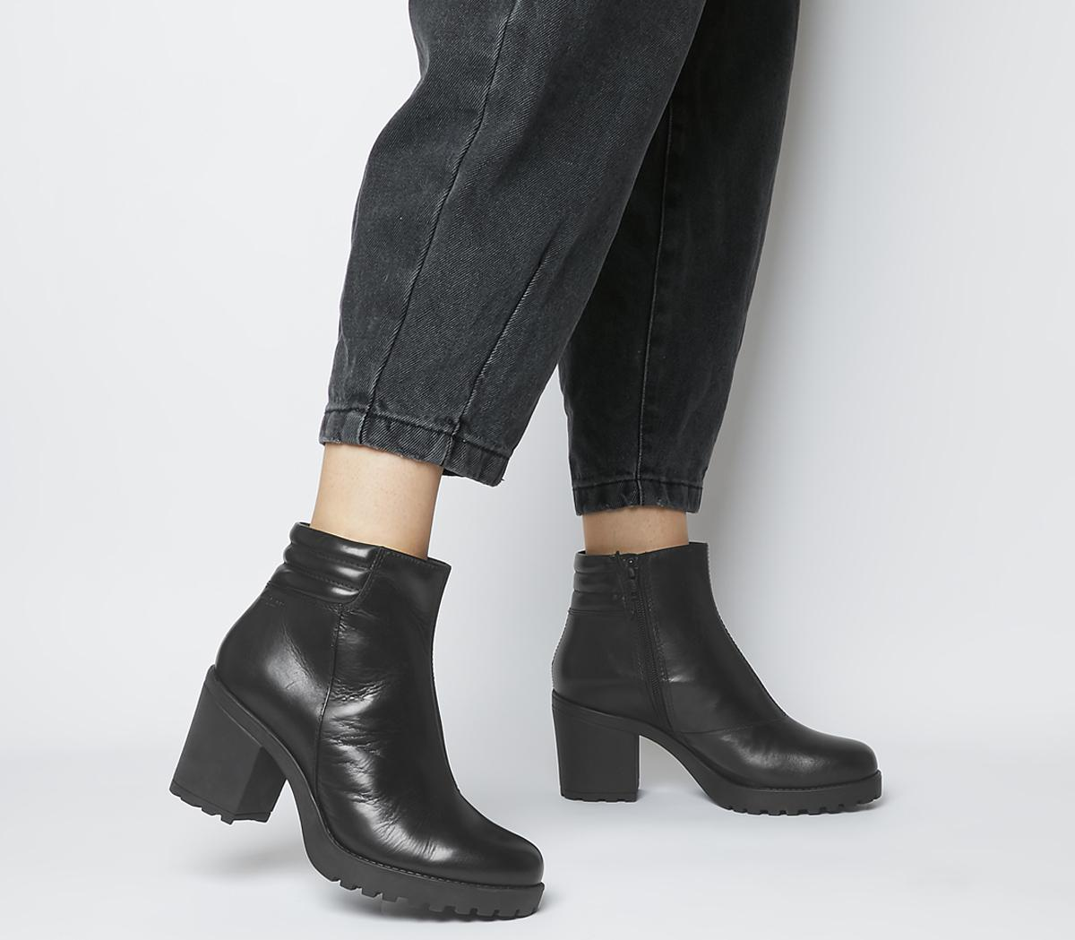 Grace Quilted Heeled Chelsea Boots