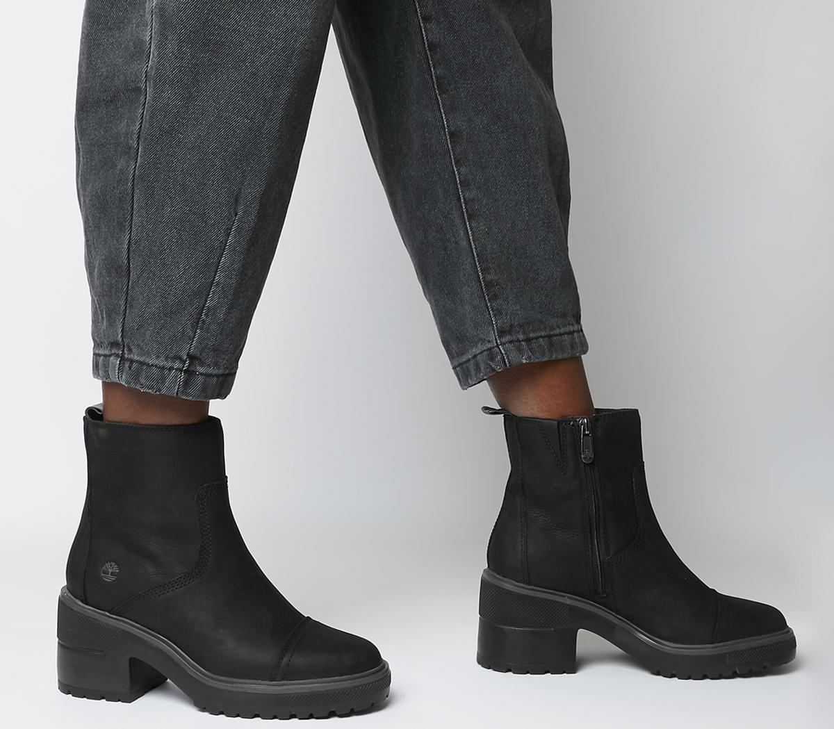 Silver Blossom Side Zip Boots