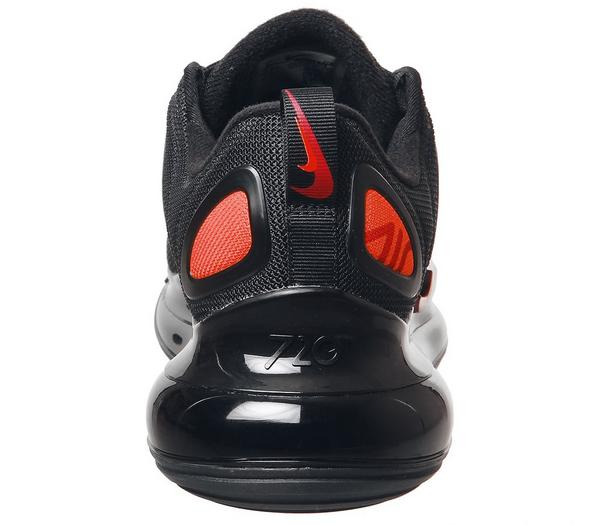 Nike Air Max 720 Trainers Black Hyper Crimson Univ Red Cool Grey - His trainers Zhtgo0A