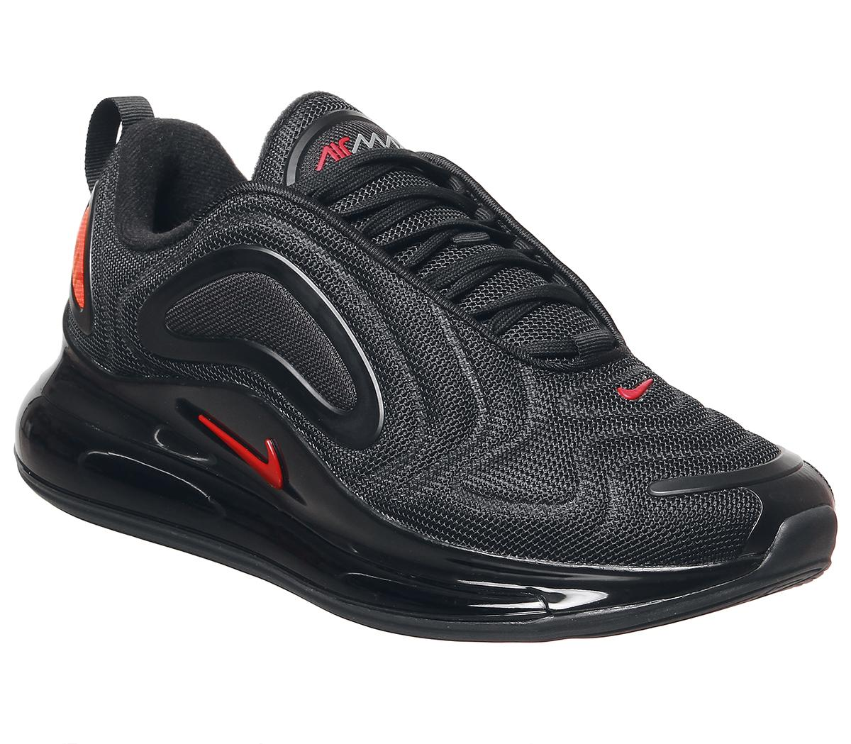 Nike Air Max 720 Trainers Black Hyper