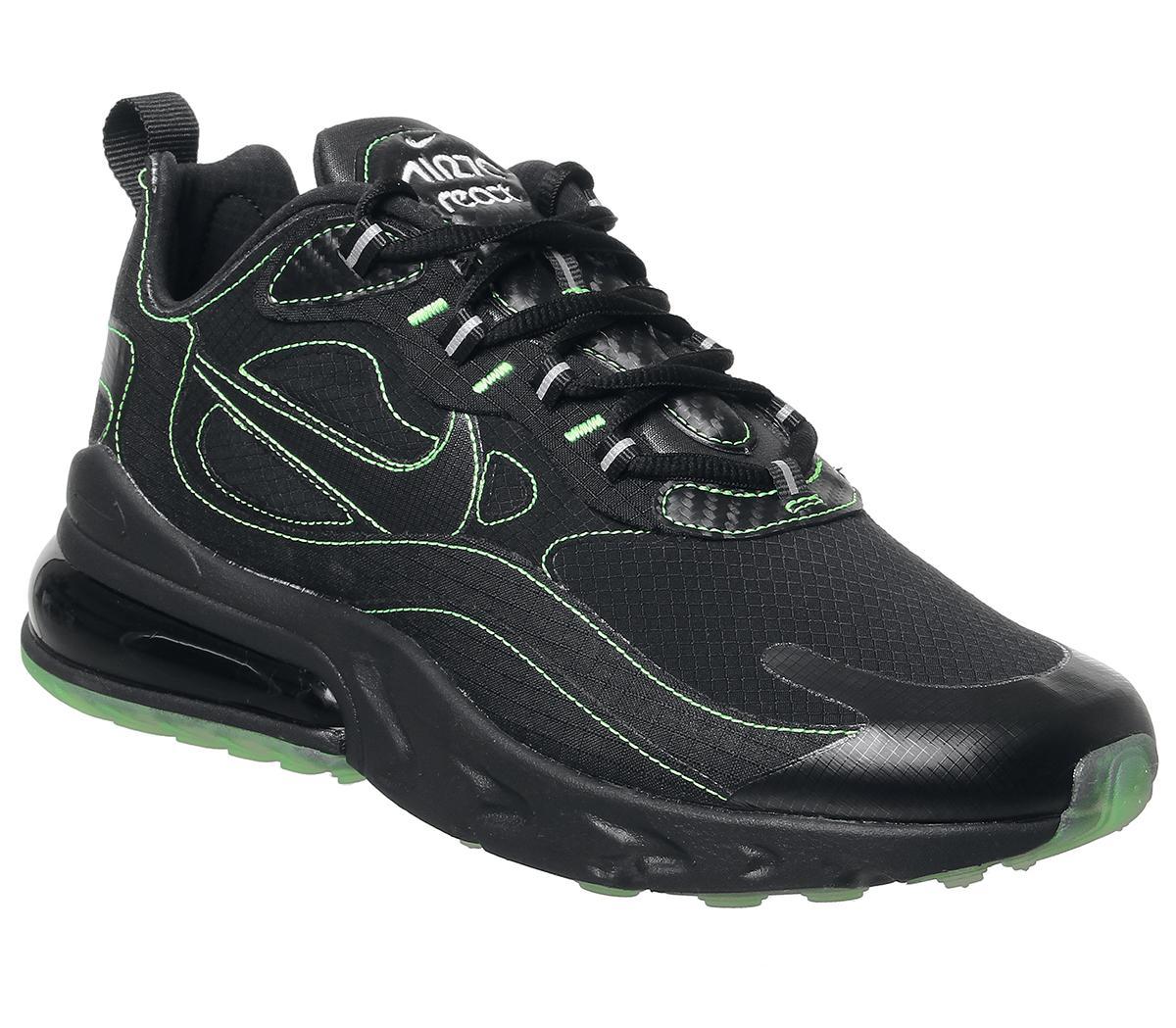 270 air max black and green