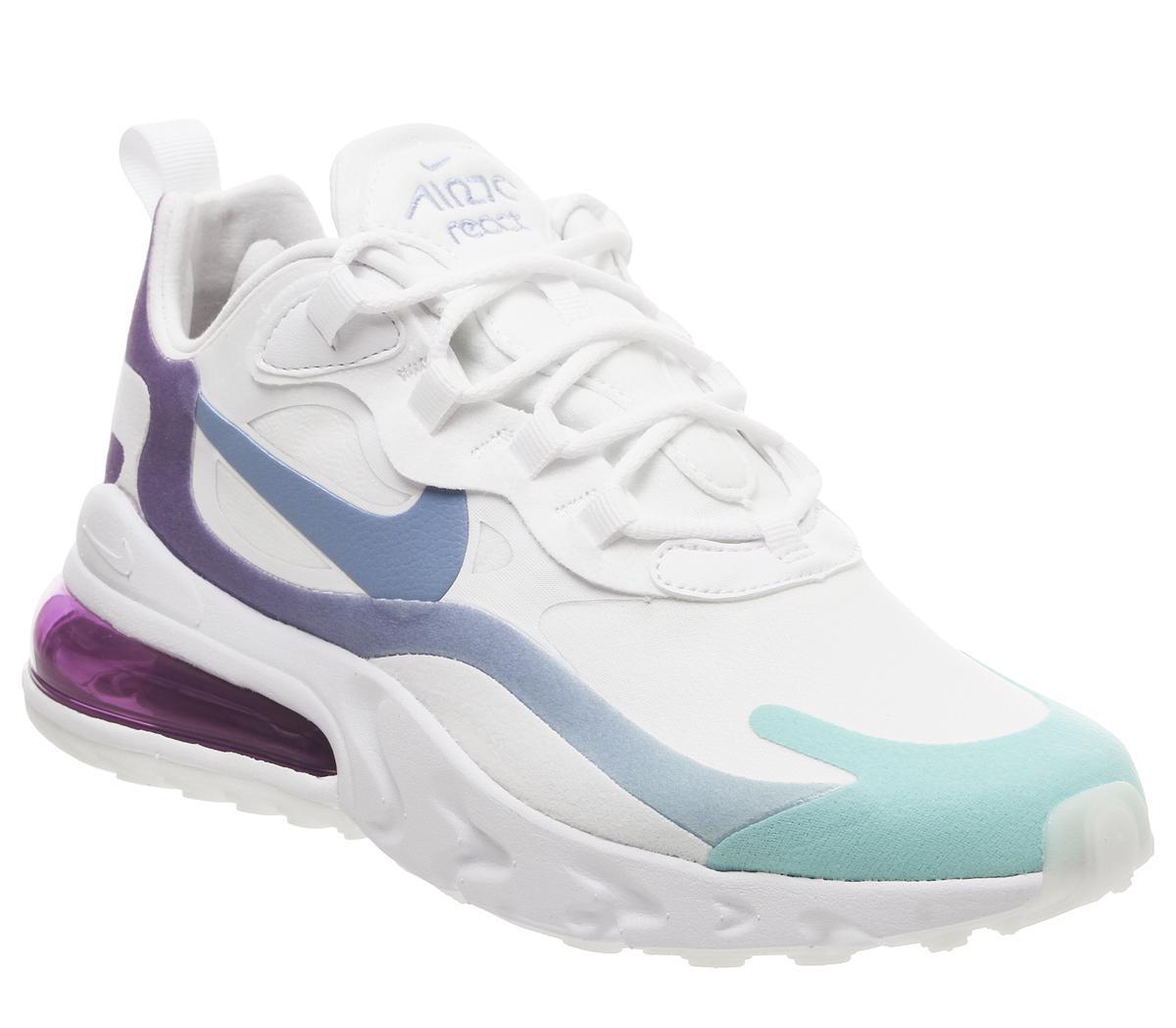 nike air max 270 white and purple