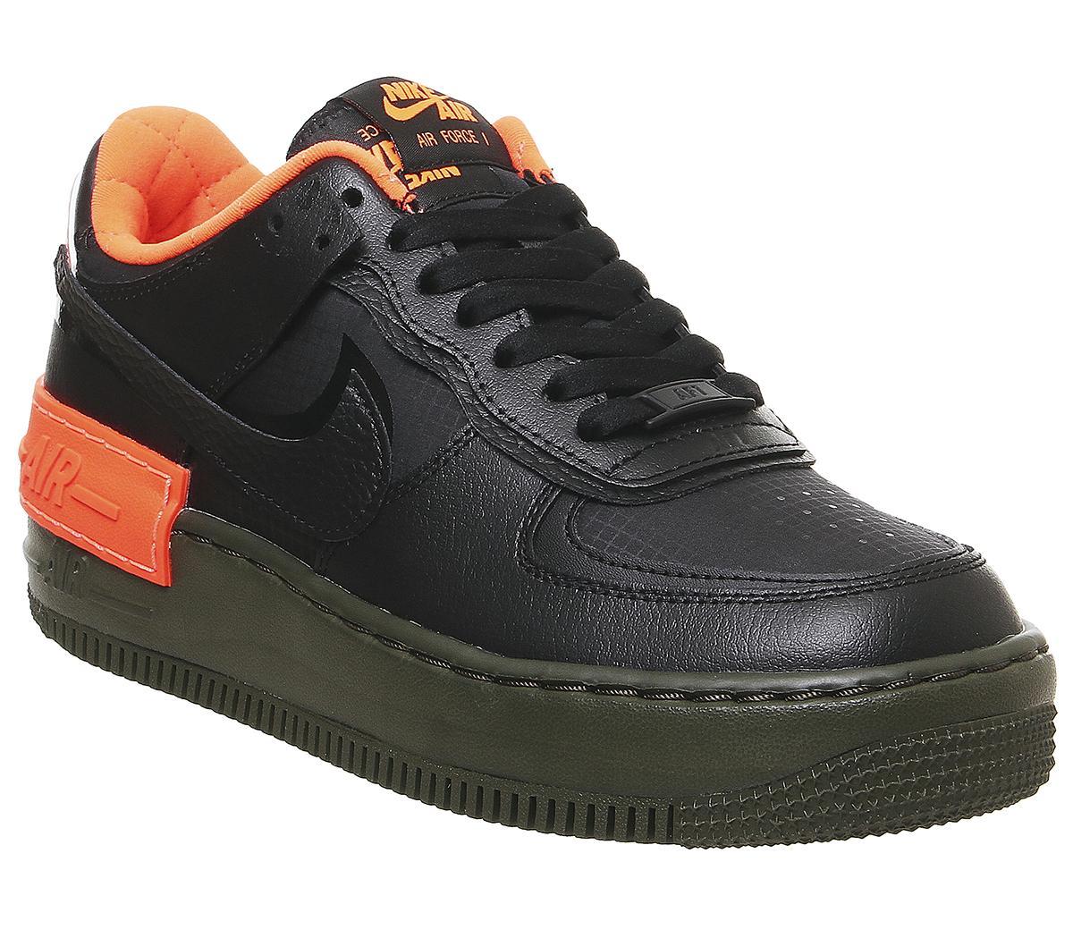 Nike Air Force 1 Shadow Trainers Black