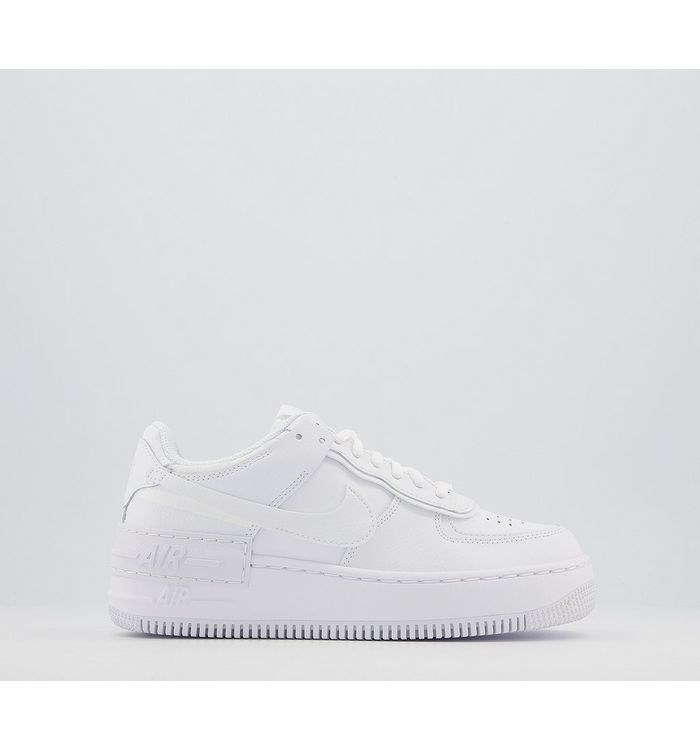 Nike Air Force 1 Shadow WHITE MONO,White,Red,Natural,Blue