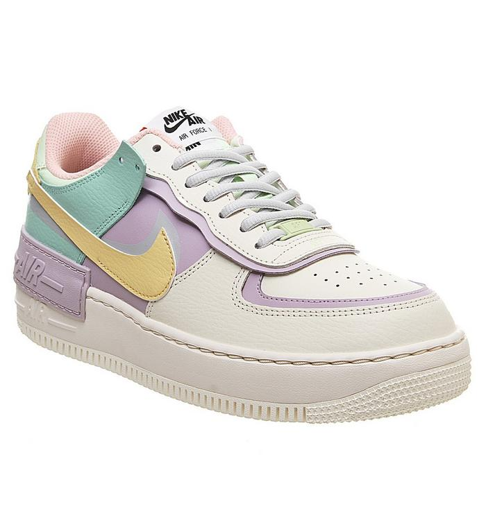 Nike Air Force 1 Shadow Trainers Pale Ivory Celestial Gold