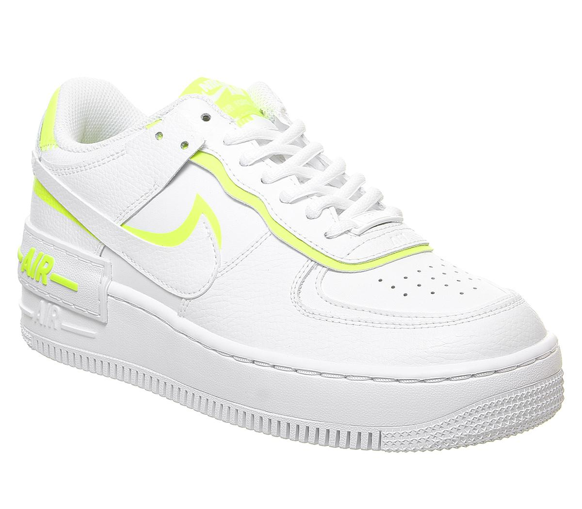 Nike Air Force 1 Shadow Trainers White Lemon Venom Hers Trainers Toggle shop by store button. air force 1 shadow trainers