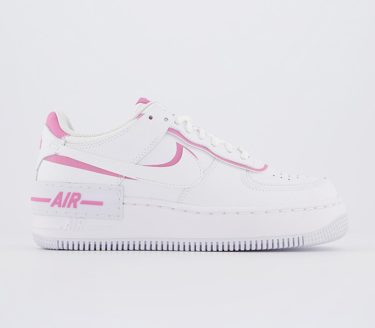 Nike Air Force 1 Shadow Trainers White Magic Flamingo Hers Trainers Did you scroll all this way to get facts about nike air force 1 pink? air force 1 shadow trainers