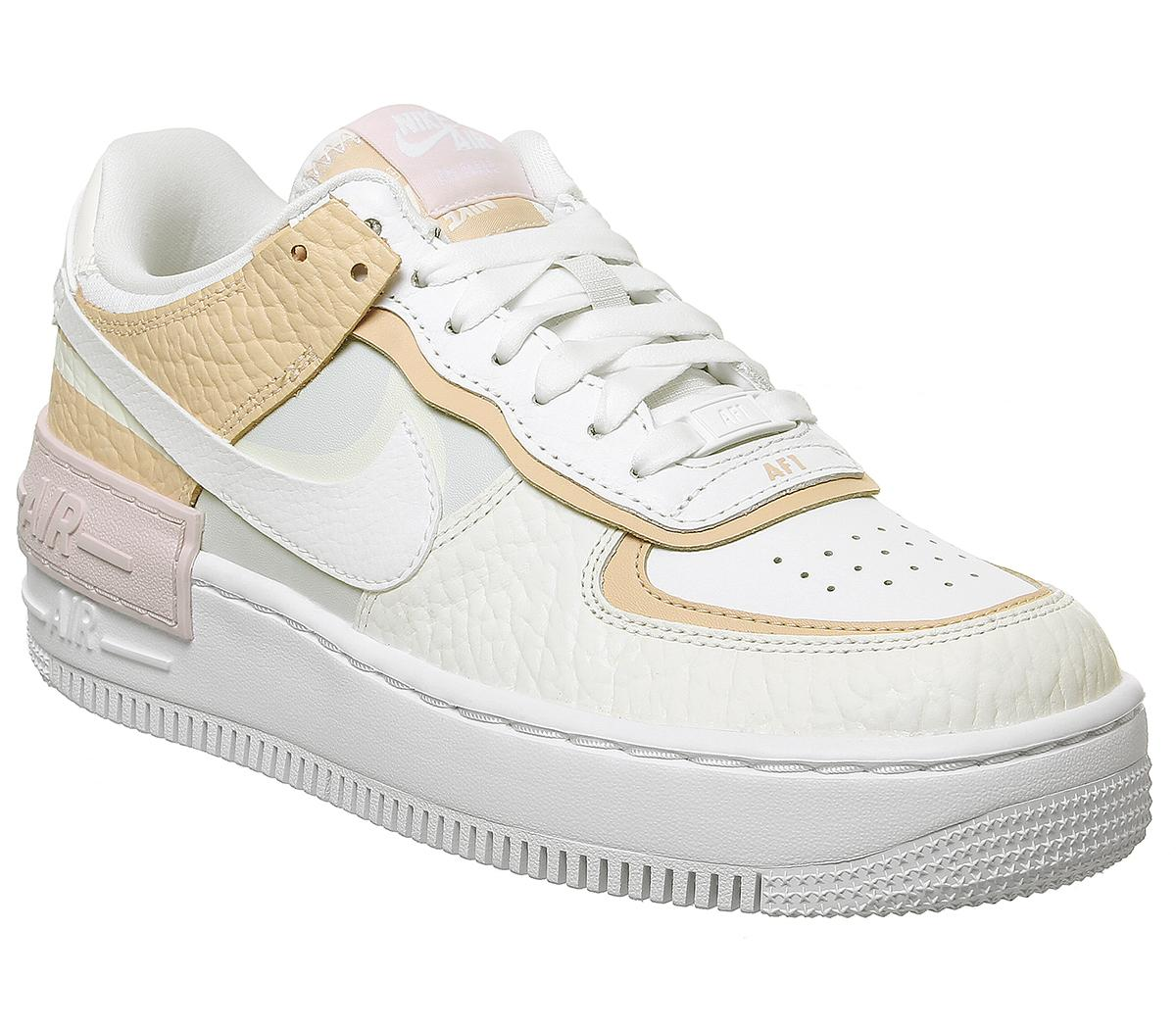 Nike Air Force 1 Shadow Trainers Spruce Aura White Sail Rose Hers Trainers Nike air force 1 '07: air force 1 shadow trainers
