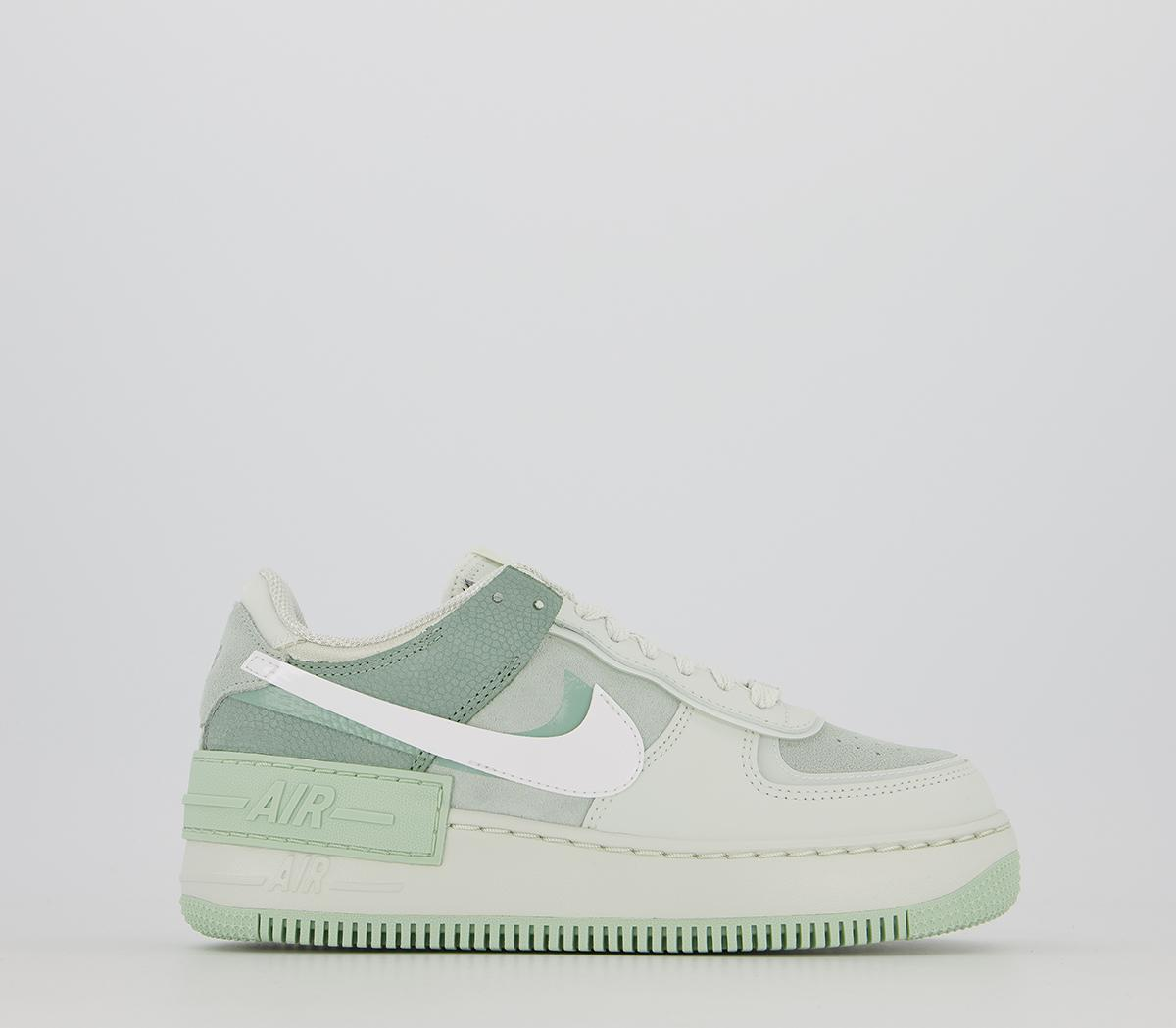 Nike Air Force 1 Shadow Trainers Spruce Aura White Pistachio Frost Hers Trainers Shop the latest women's nike air force 1 shadow trainer release dates, curated from the best sneaker shops across europe. air force 1 shadow trainers