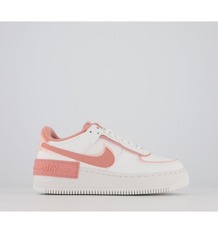 Nike Air Force 1 Shadow Trainers Summit White Pink Quartz Coral