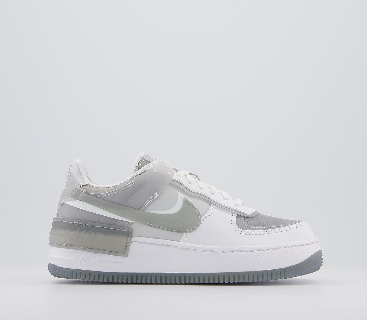 Nike Air Force 1 Shadow Trainers White Particle Grey Grey Fog Hers Trainers Sporting some of the most wanted trainers in the game, browse air max 90s and air force 1s, as well as cortez and joyride styles. air force 1 shadow trainers