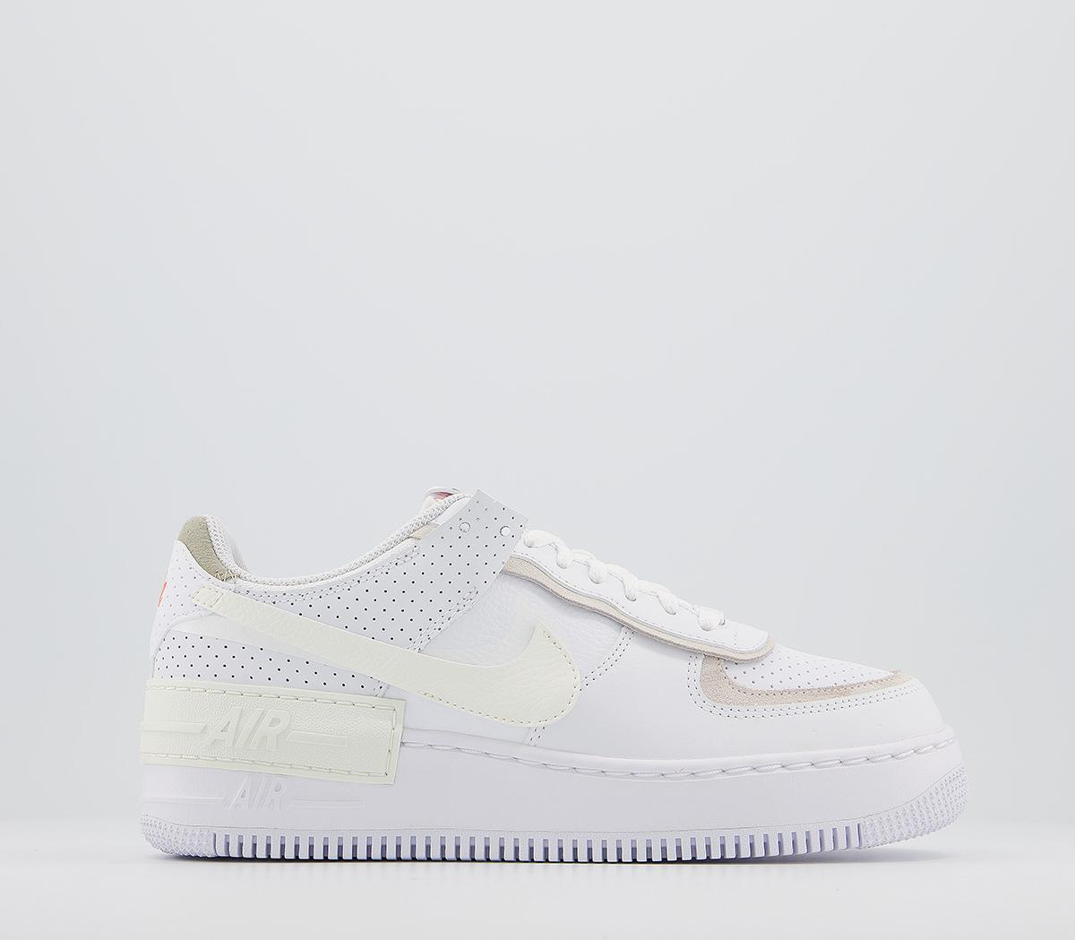 Nike Air Force 1 Shadow Trainers White Sail Stone Atomic Pink Unisex Sports Кроссовки nike air force 1 betrue. air force 1 shadow trainers