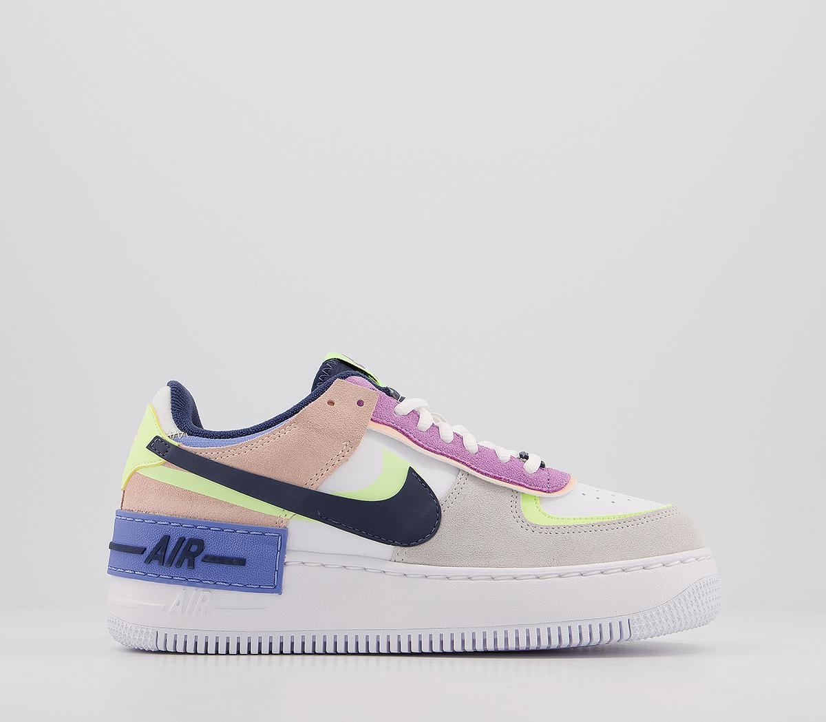 Nike Air Force 1 Shadow Photon Dust Royal Pulse Barely Volt Unisex Sports Nike air force 1 low. air force 1 shadow