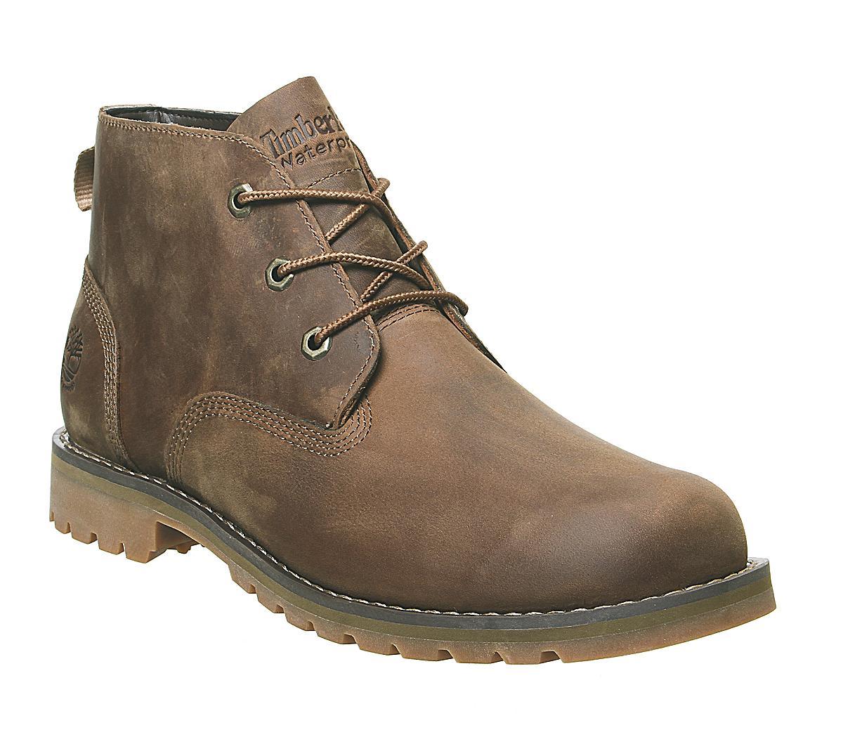 Extracción Tranquilidad de espíritu escaramuza  Timberland Larchmont Chukka Waterproof Boots Dark Brown Full Grain - Boots