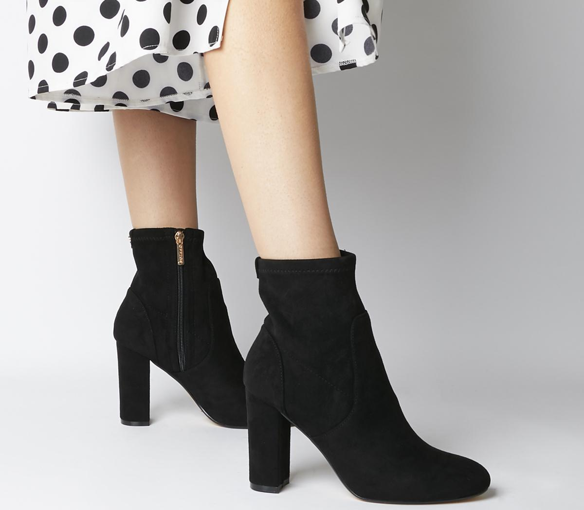 Office Asia Block Heel Stretch Boots