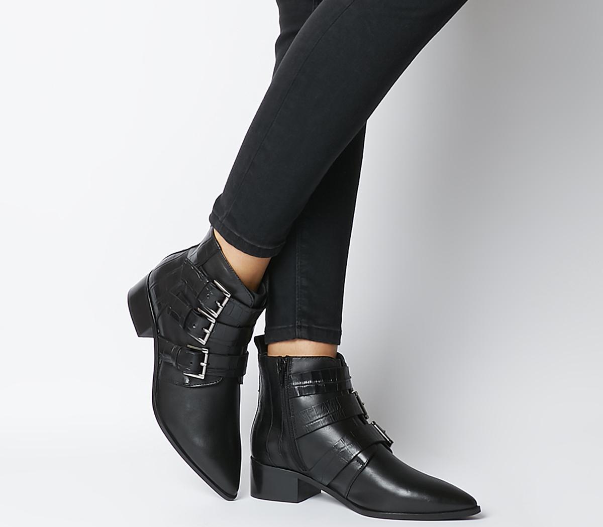 Amba Multi Strap Point Boots