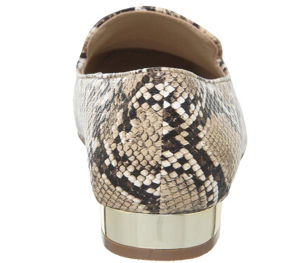 Office Finesse Slippers Natural Snake W Gold Heel - Flats brsnpkn