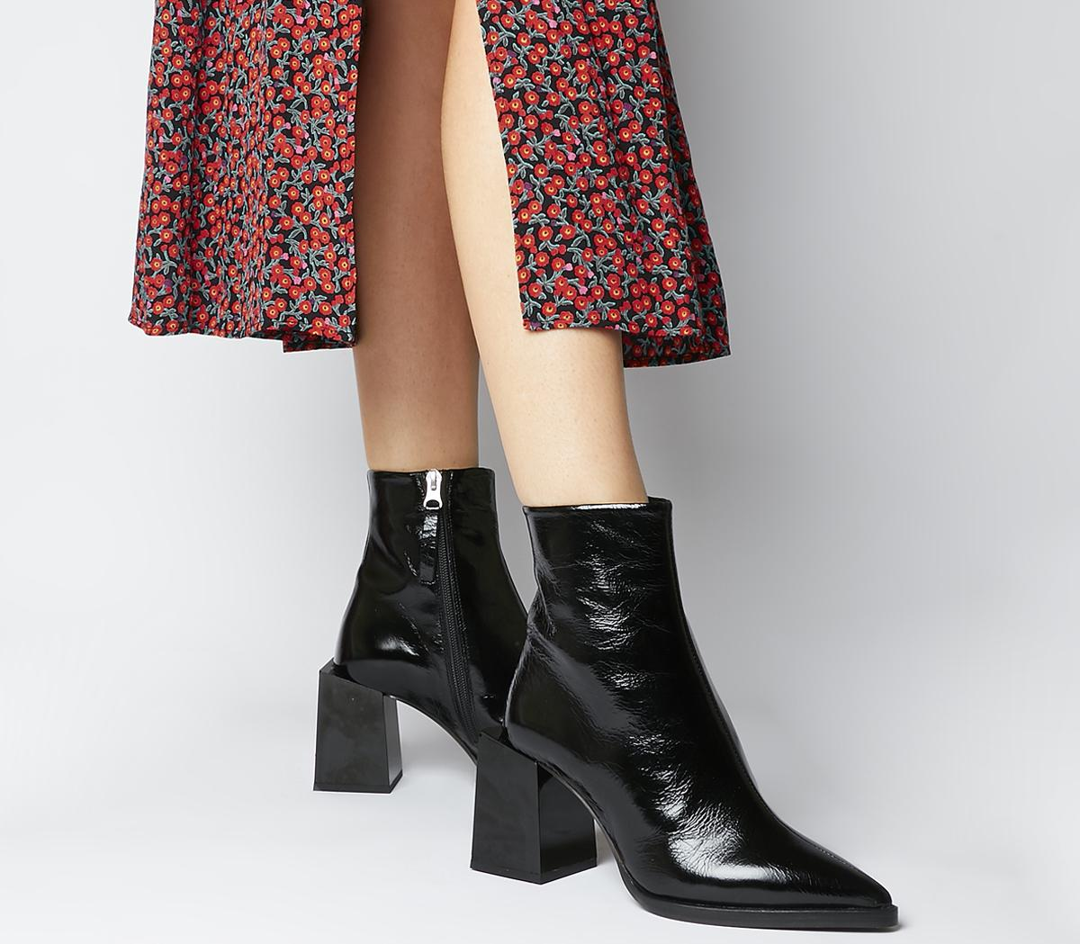 Office Axis Extended Heel Pointed Boots