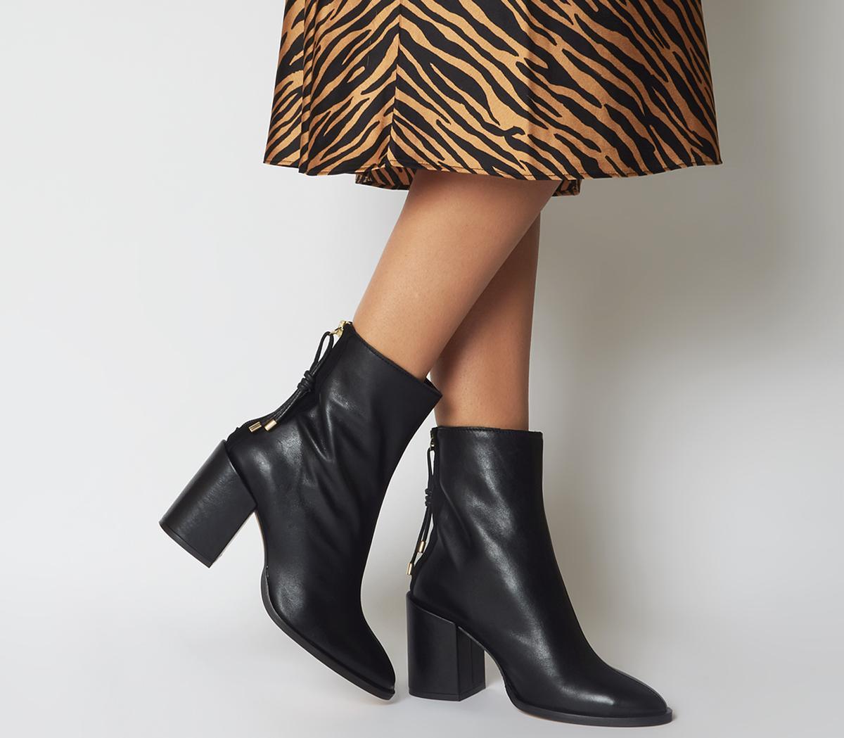 Attribute Back Zip Block Heels
