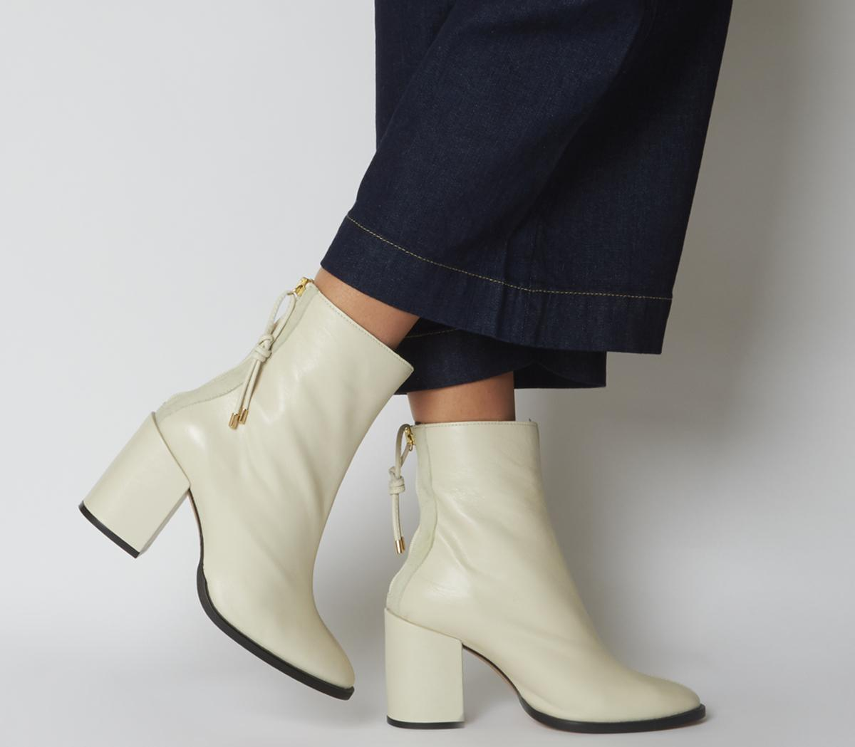 Attribute Back Zip Block Heels