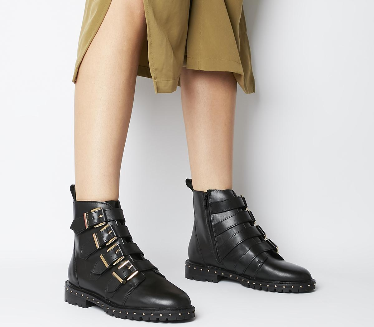Athens Multi Strap Flat Boots