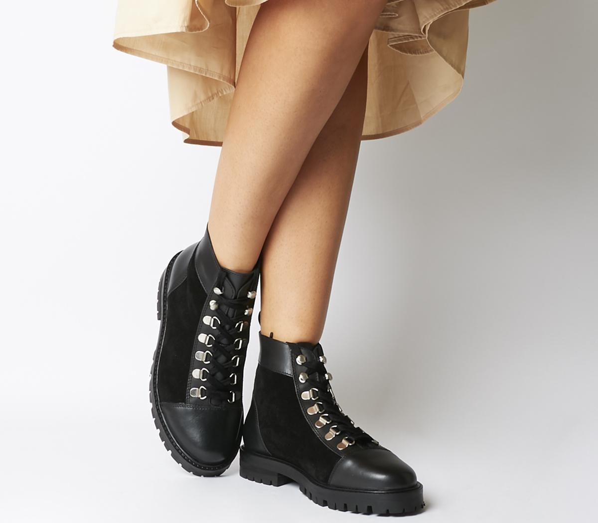Office Antics Low Hiker Boots Black