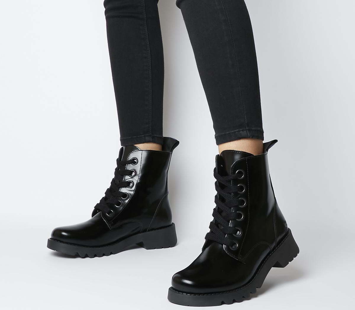 Fly London Ragi Boots Black - Womens Boots
