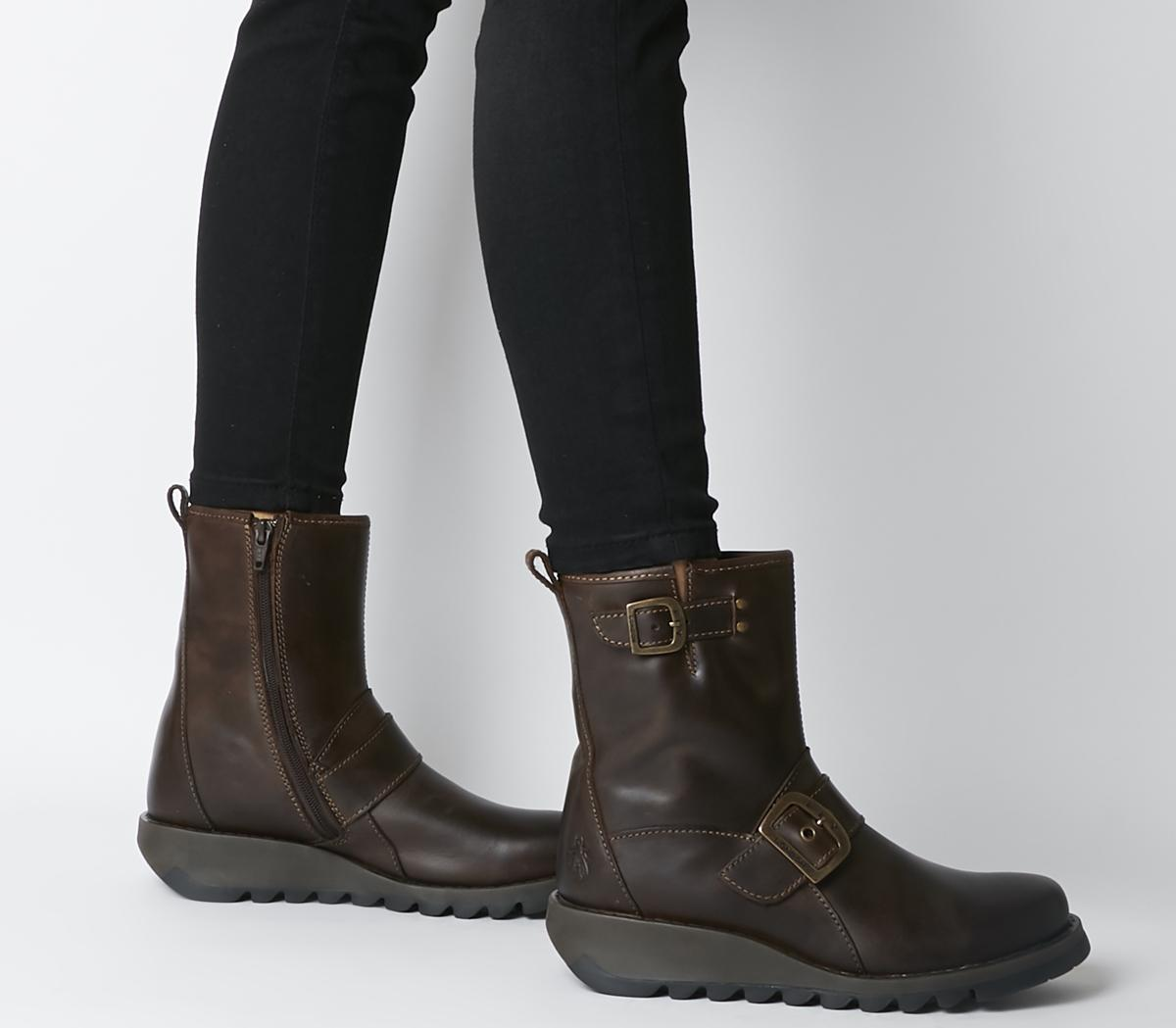 Fly London Sino Dark Brown - Womens Boots