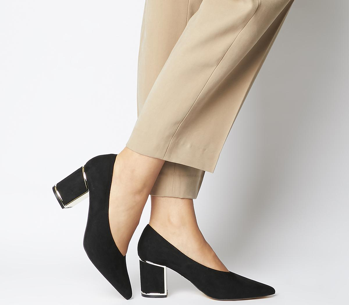 Moneypot Block Court Heels