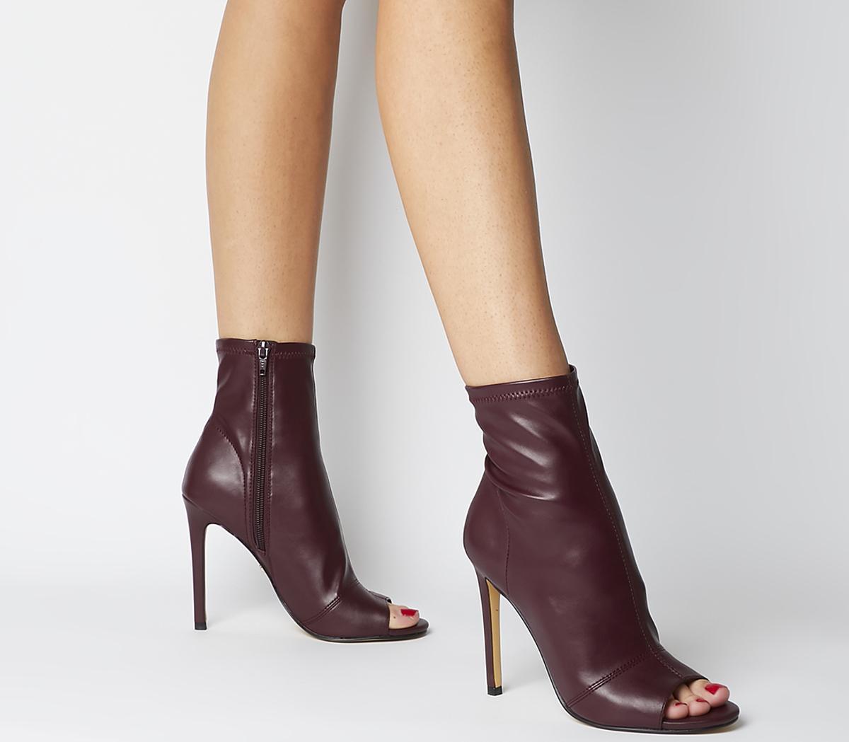 Office Aware Dressy Peep Toe Boots