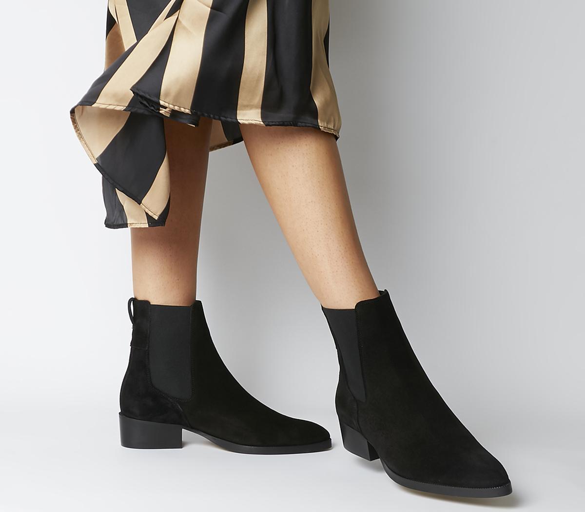 Office Asset Flat Chelsea Boots Black