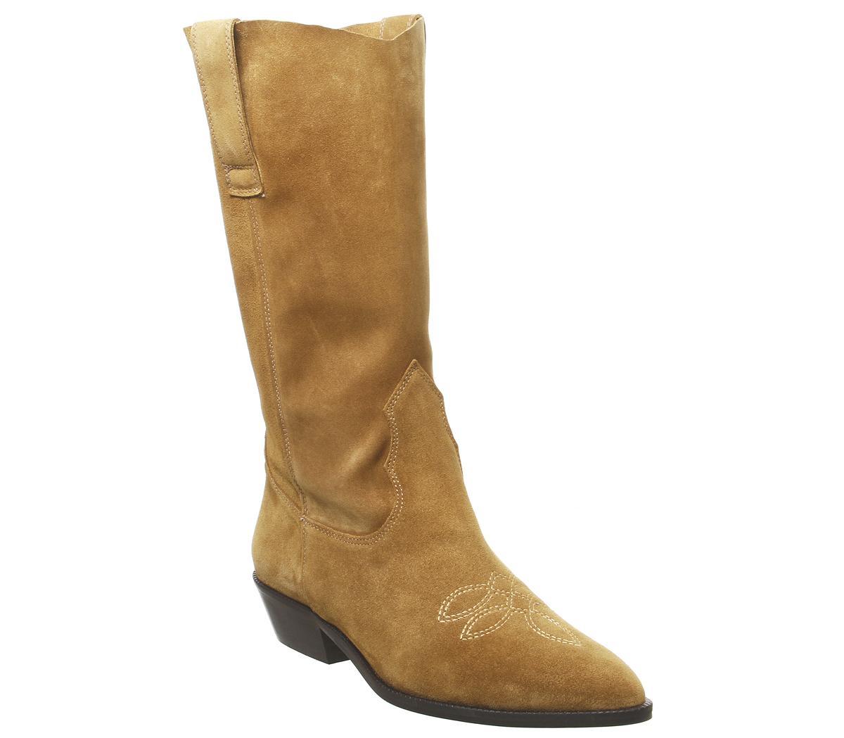 Kalvin  Western Calf Boots