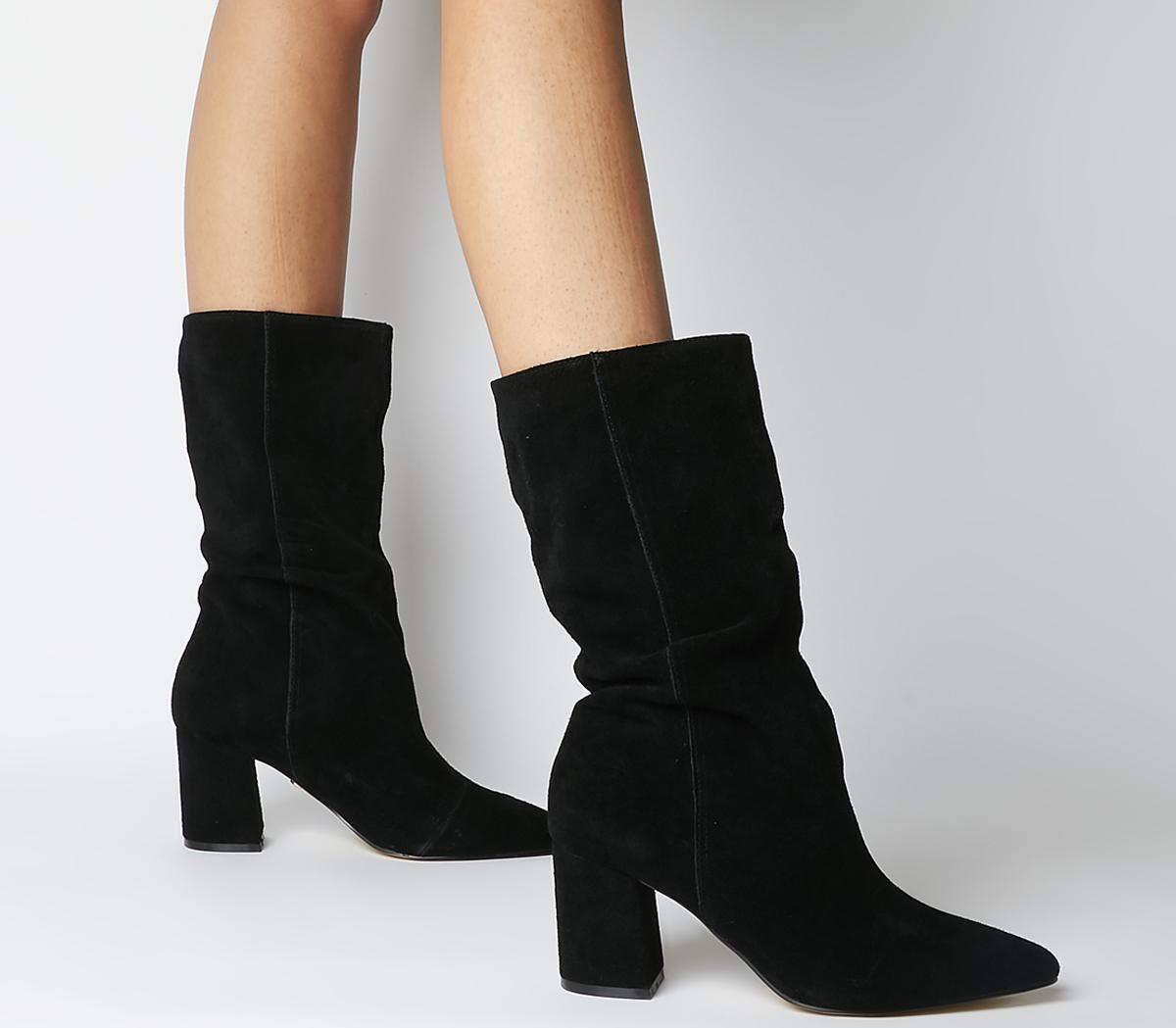 Office Karla Pointed Block Calf Boots