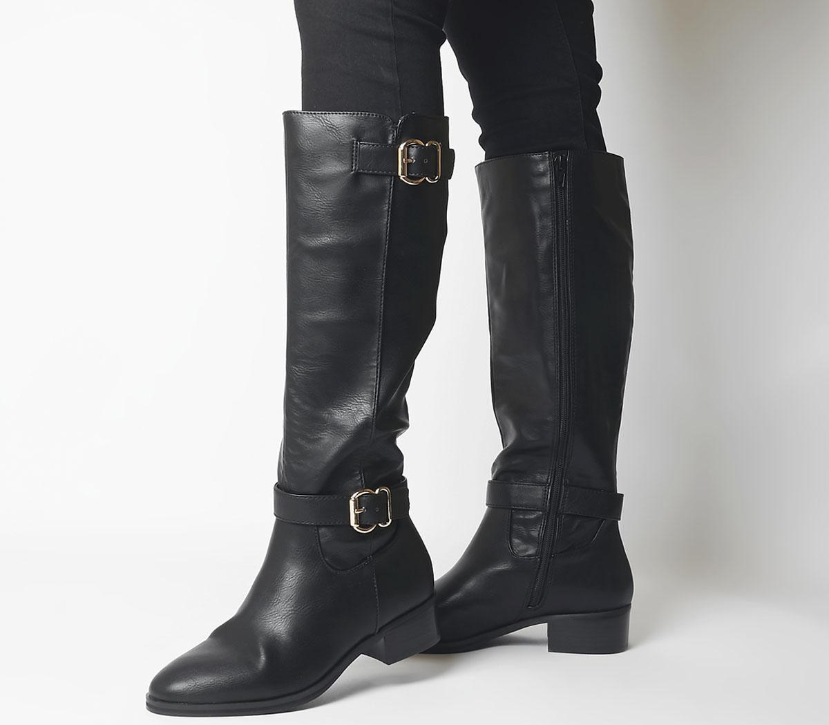 Kane- Buckle Detail Riding Boot
