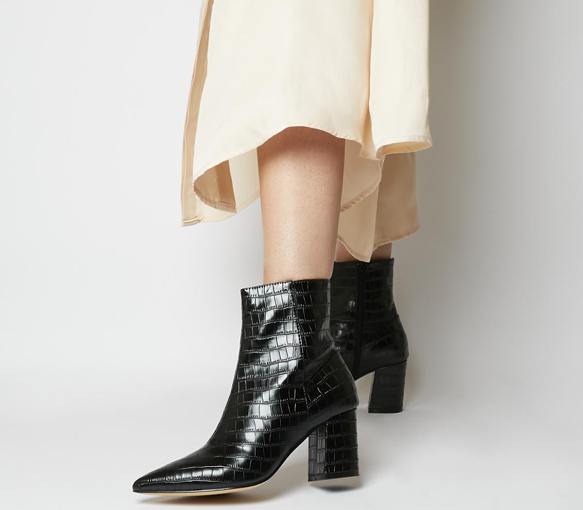 Allure Pointed Block Heel Boots