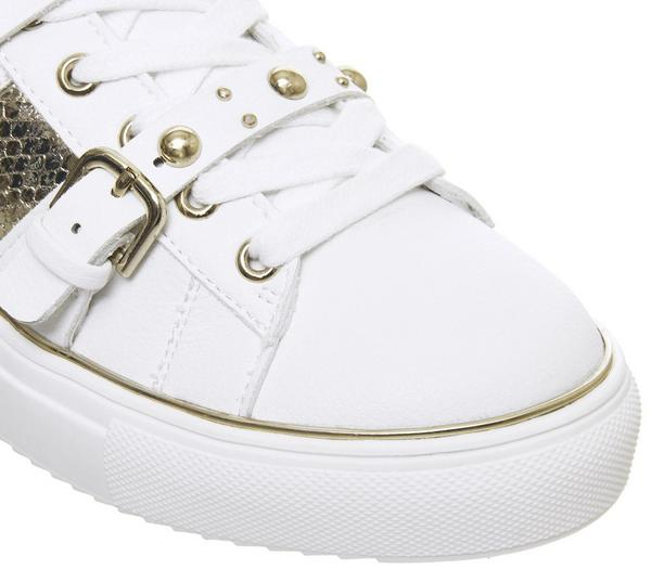 Office Freight Strappy Lace Up Trainers White Gold - Flats cUC0pxs