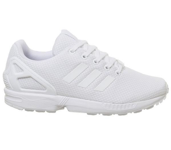 adidas Zx Flux Jnr Trainers White - Hers trainers kFOHXCZ