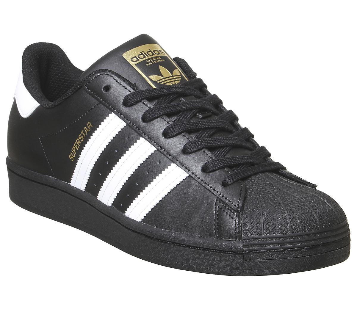 adidas Superstar Trainers Black White