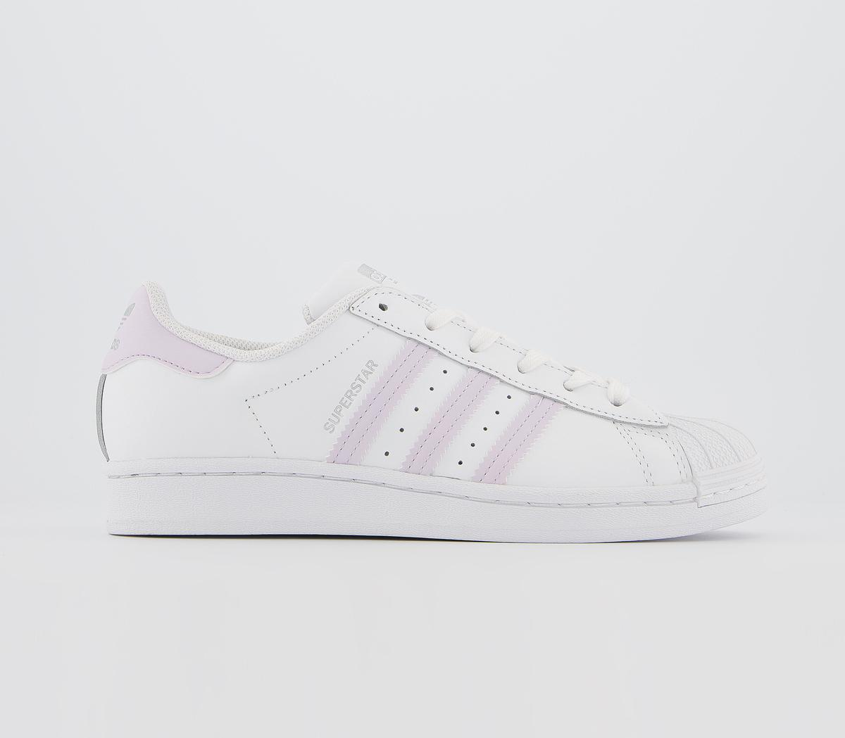 adidas Superstar Trainers White Purple