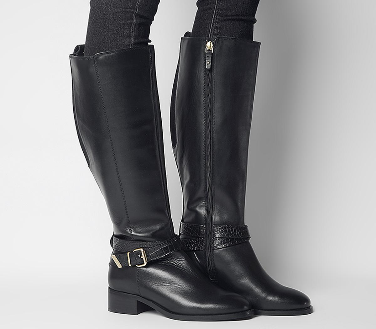 Office Karter Wf Rider Knee Boots Black
