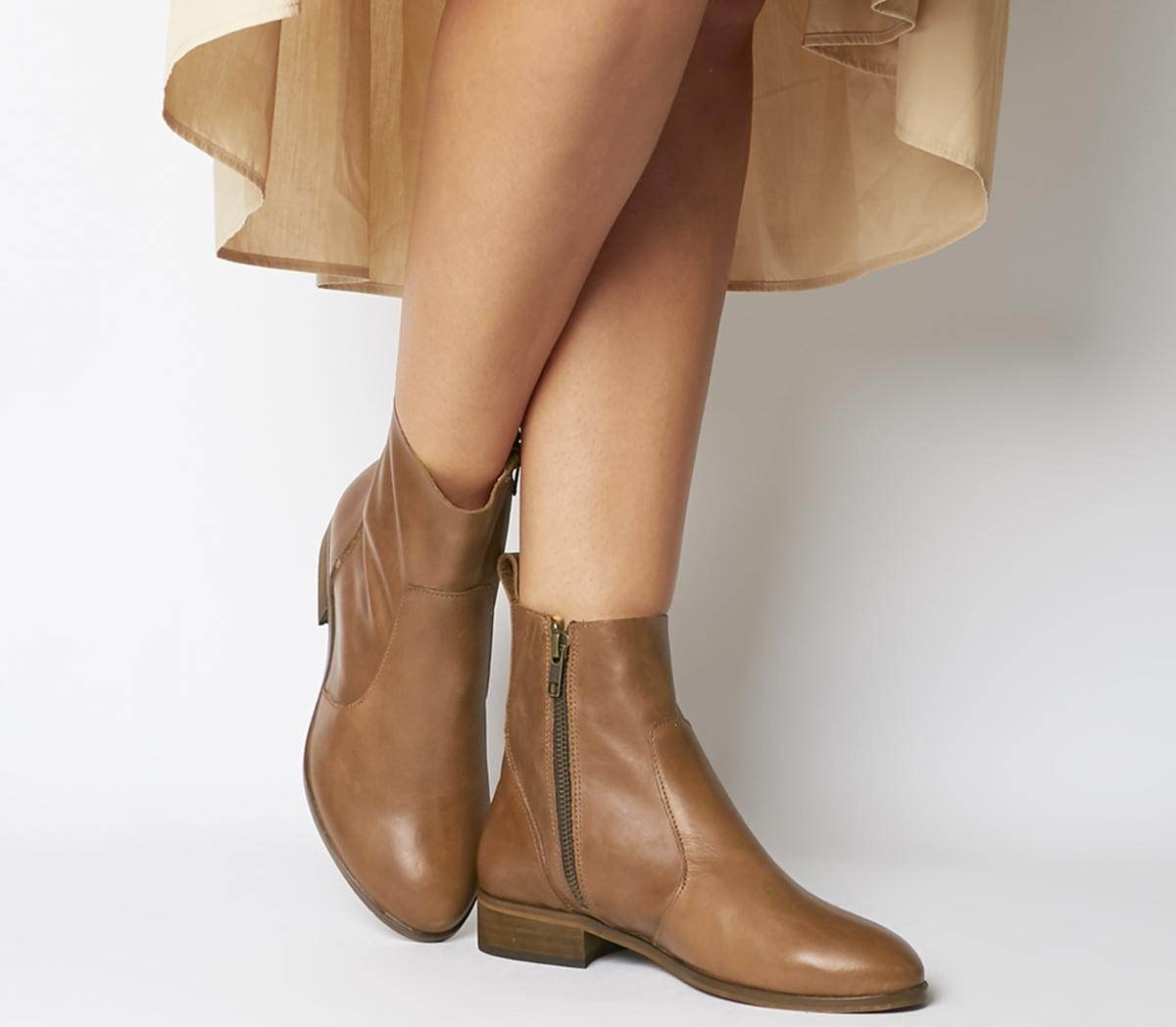 Ashleigh Flat Ankle Boots - Wide Fit