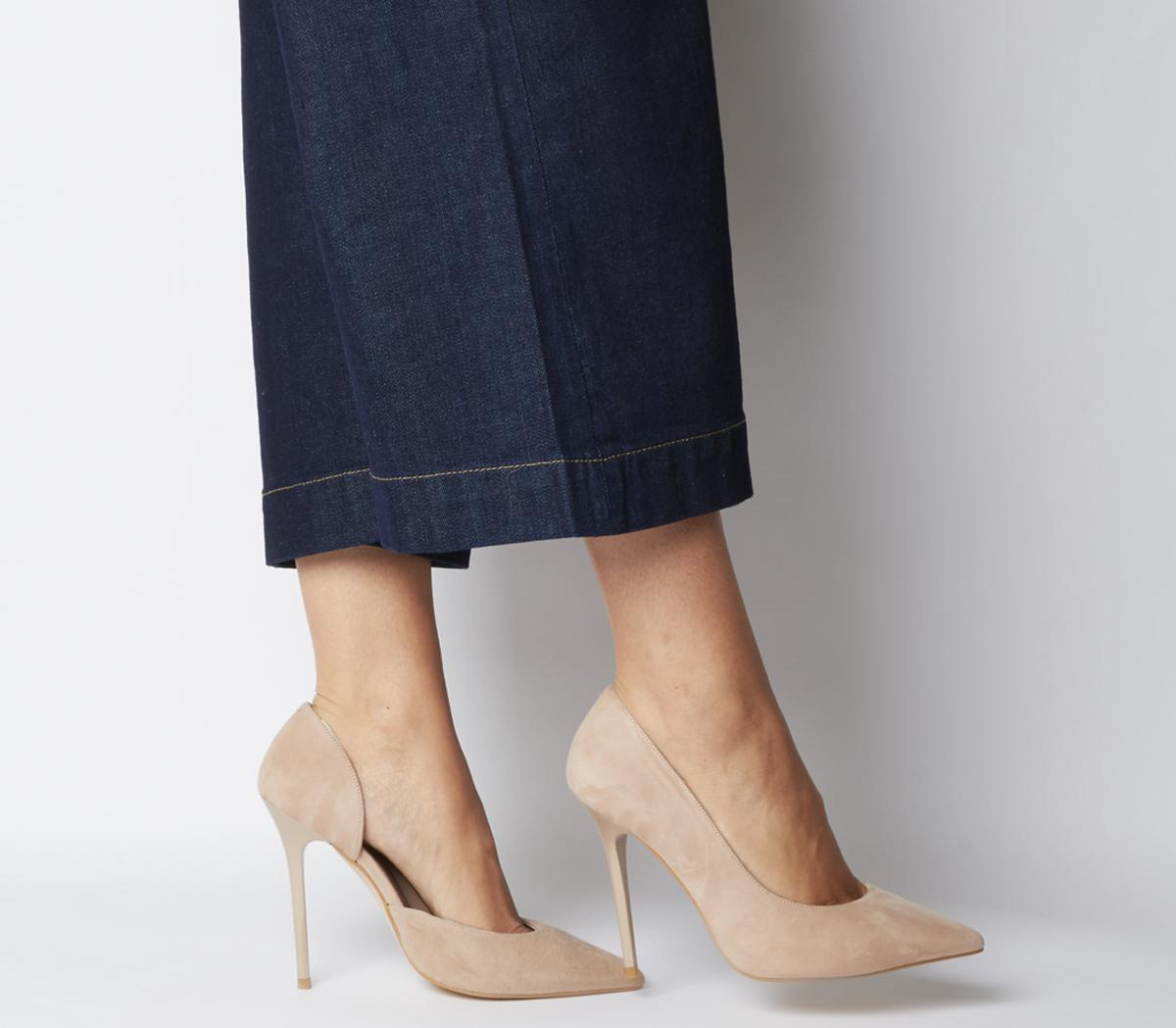 Office Happiness Court Shoes Nude Suede