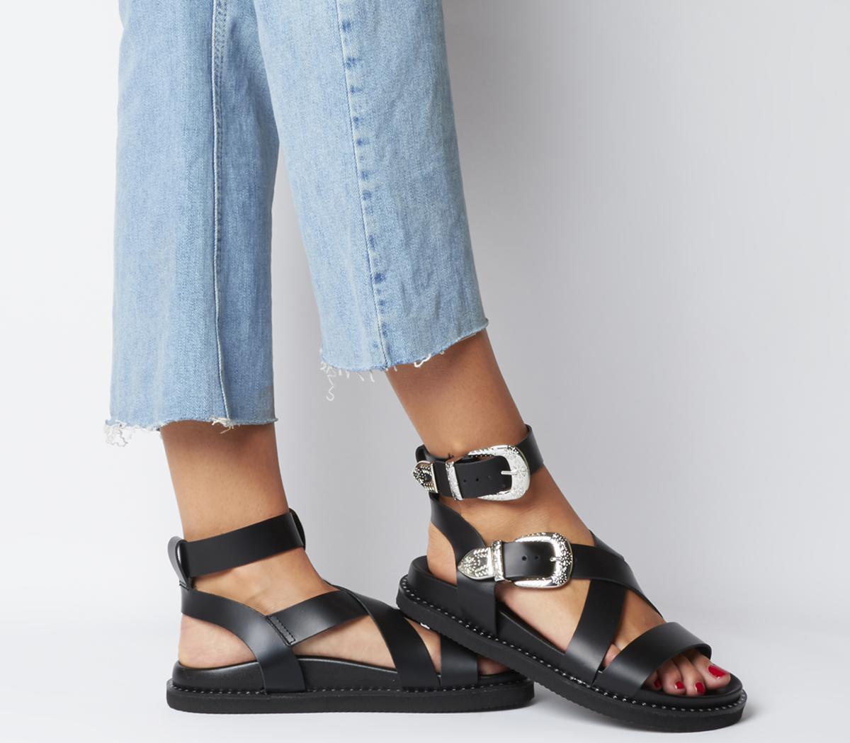 Surrender Western Buckle Sandals