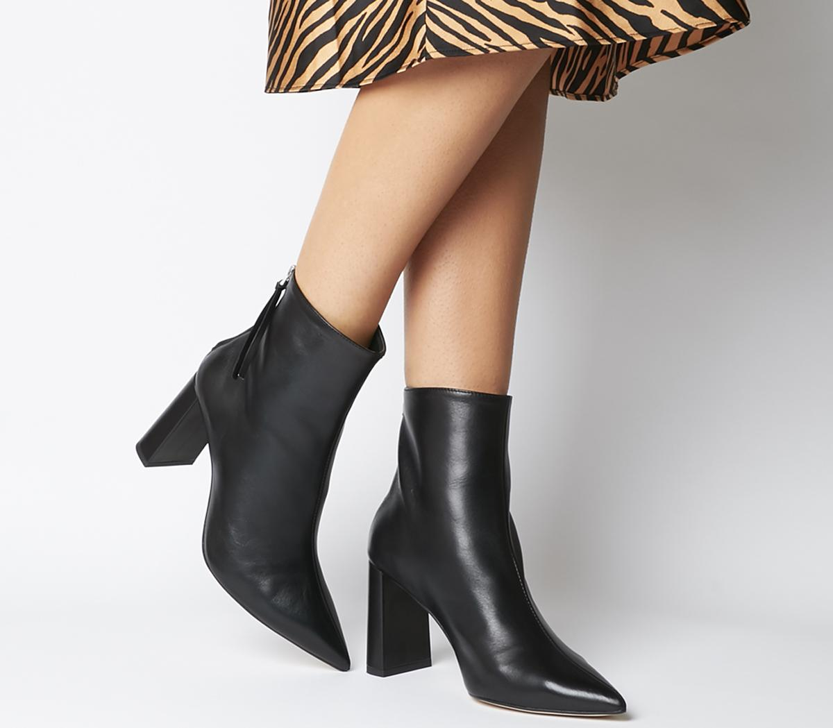 Office Alpha Pointed Back Zip Boots