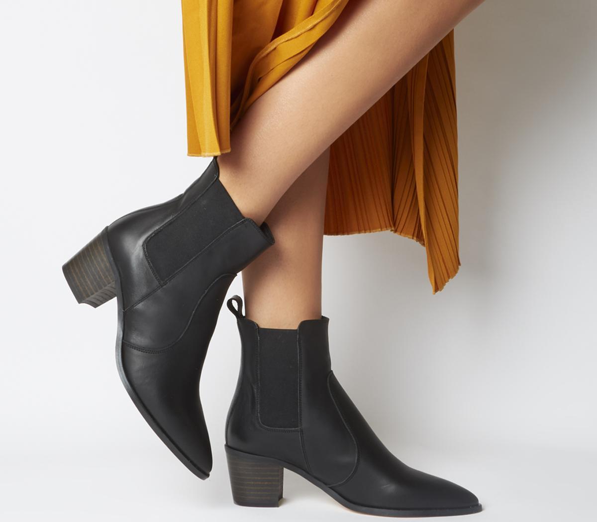 Office Autumn Smart Western Boots Black