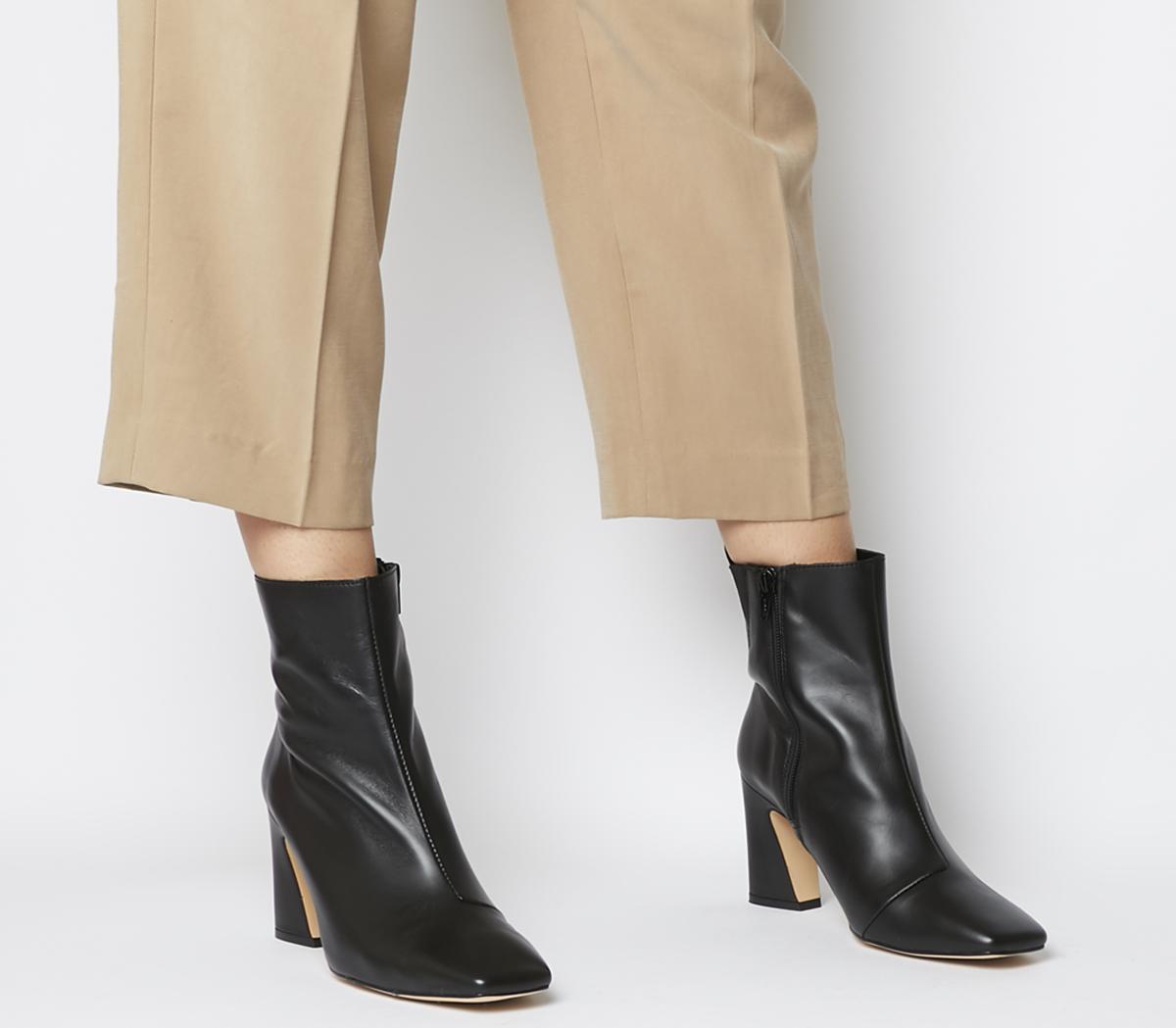 Advantage Square Toe Block Heel Boots