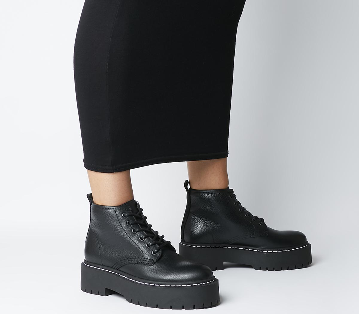 Office Absorb Chunky Lace Up Boots