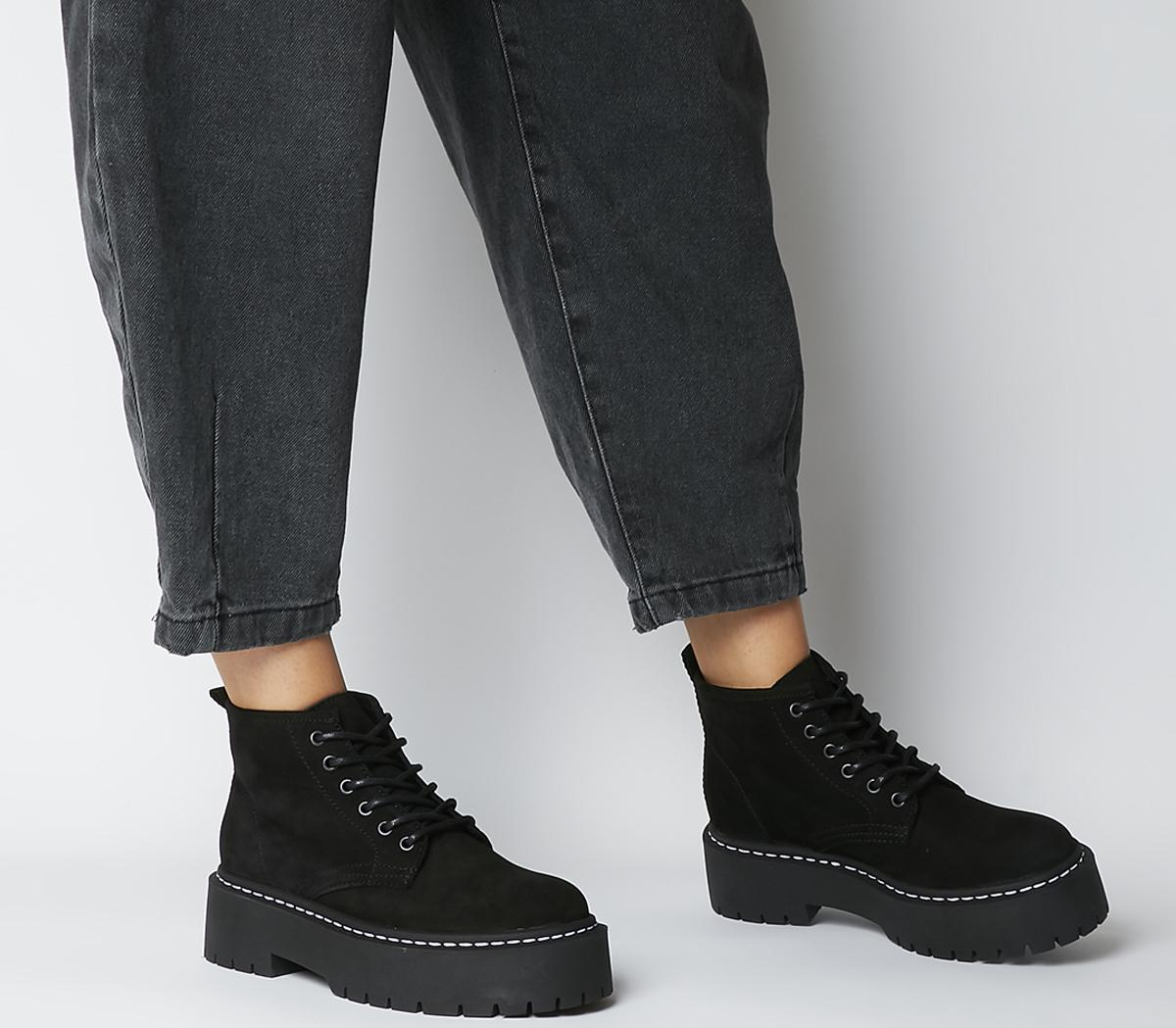 Absorb Chunky Lace Up Boots